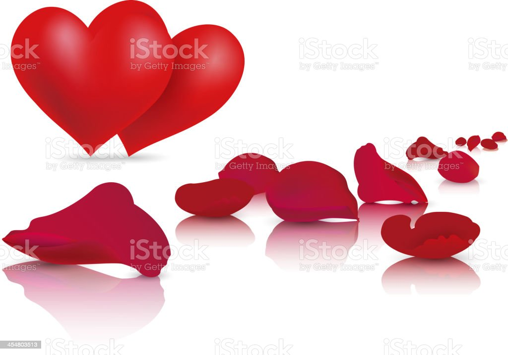 Rose and heart royalty-free rose and heart stock vector art & more images of blank
