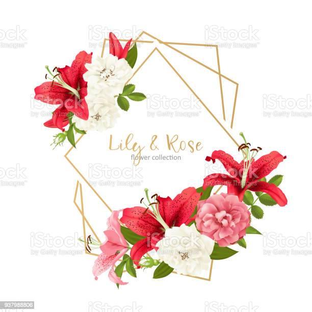 Rose and lily wedding invittion vector card vector id937988806?b=1&k=6&m=937988806&s=612x612&h=mlm2uuujwpx0xjbvfteldxrngrtc5trresii s4jpli=