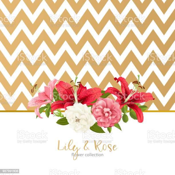 Rose and lily wedding invittion vector card vector id937991806?b=1&k=6&m=937991806&s=612x612&h=  nmzewbgezjexe6wflauznynsj5vke2w wwnqb8yno=