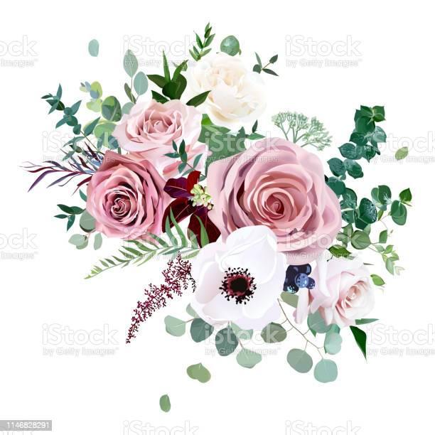 Rose anemone pale flowers vector design wedding bouquet vector id1146828291?b=1&k=6&m=1146828291&s=612x612&h=vn jg91iwzm9deslu1e82rulcm mashjugk3gyyugjk=