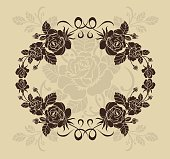 Rose border,Vector ornamental decorative elements design