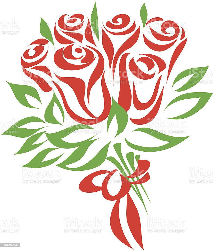 Rose bouquet royalty-free stock vector art