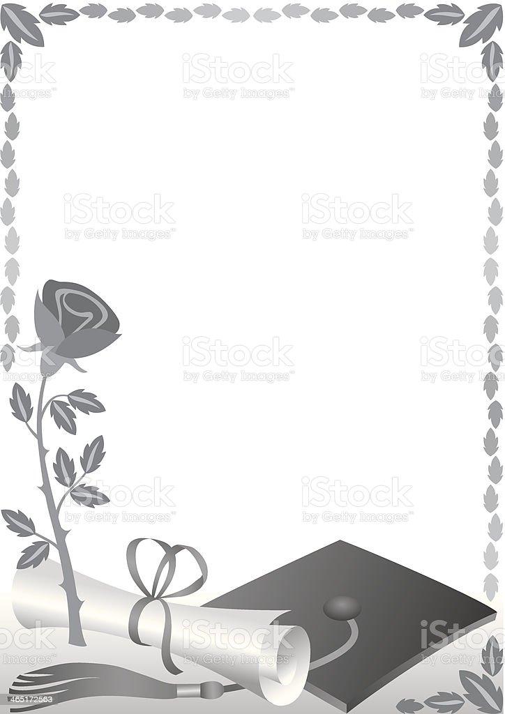 Rose Diploma Frame stock vector art 465172563   iStock
