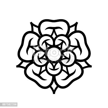 istock Rose (Queen of flowers). Flower from The Garden of Eden; Paradise flower. The symbol of love and passion, beauty and perfection; also heraldic emblem. 887582256