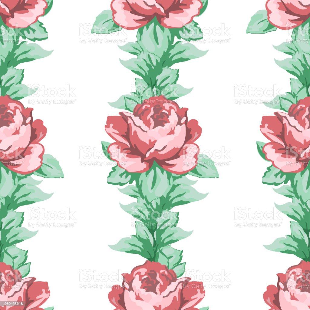 Ilustración de Dibujo De Patrones Sin Fisuras Fondo Floral Del ...