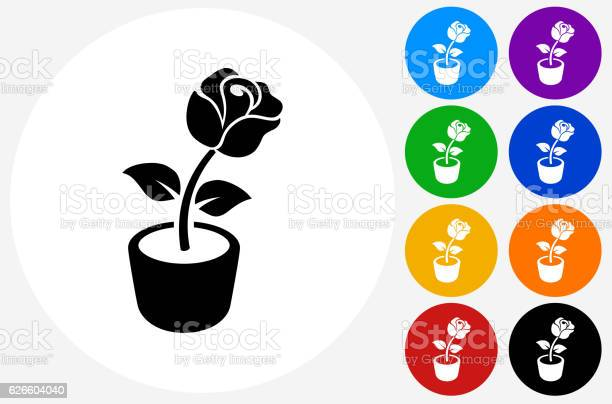 Rose flower icon on flat color circle buttons vector id626604040?b=1&k=6&m=626604040&s=612x612&h=rxsepqea tnylw z3r0hzyixk3f5gbulkrvrwbbpvrg=