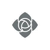 Rose flower icon,vector illustration. EPS 10.