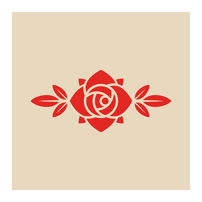 Rose flower icon