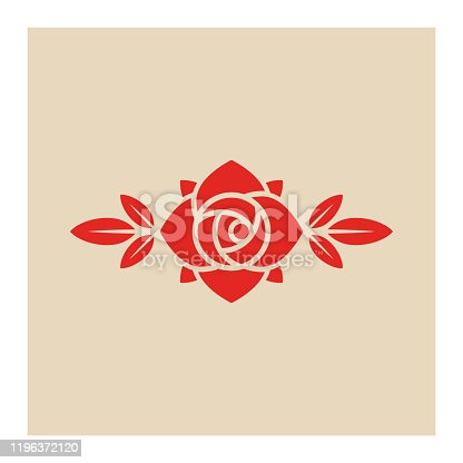 Rose flower icon,vector illustration. EPS 10.