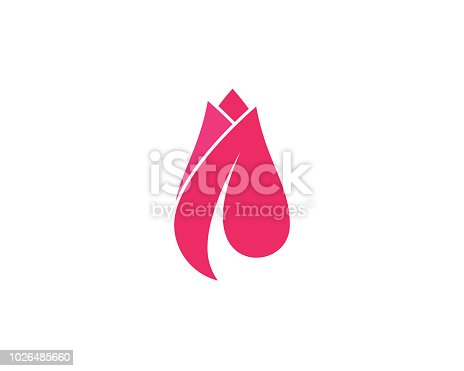 Rose flower Logo Template vector icon illustration