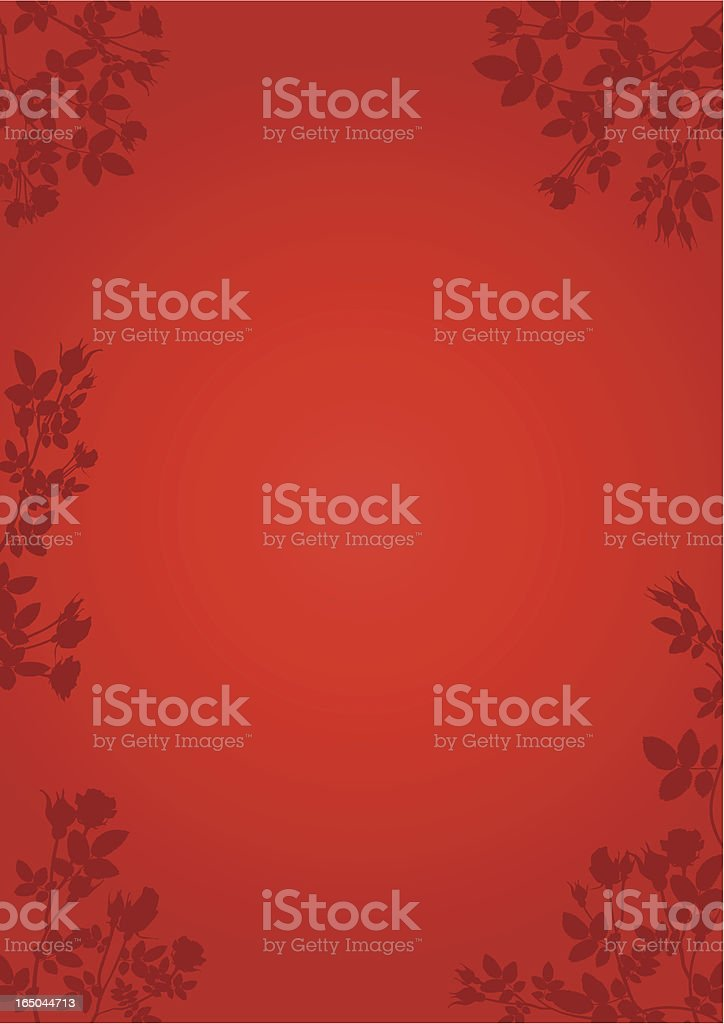 Rose Frame Red - Vector royalty-free stock vector art