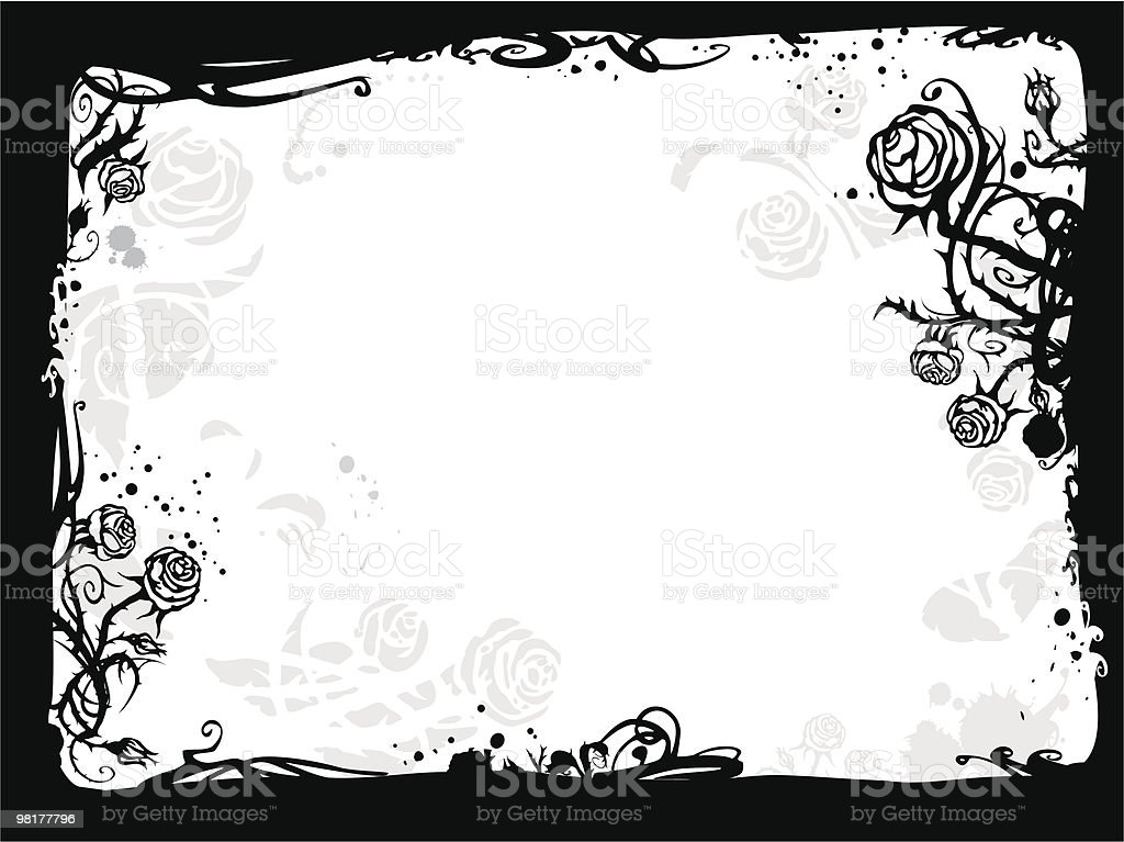 Rose frame royalty-free rose frame stock vector art & more images of abstract