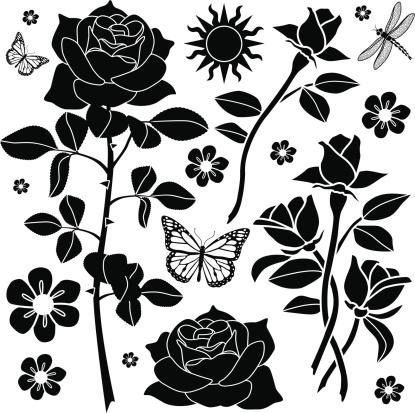 rose garden design elements