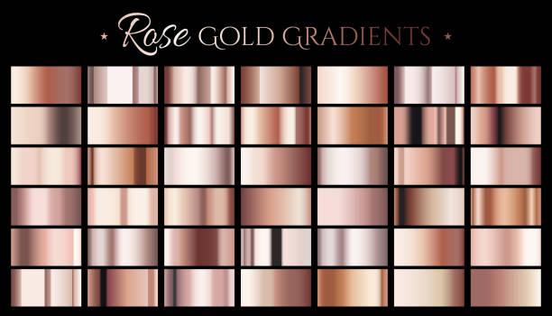 Rose gold color gradient vector art illustration
