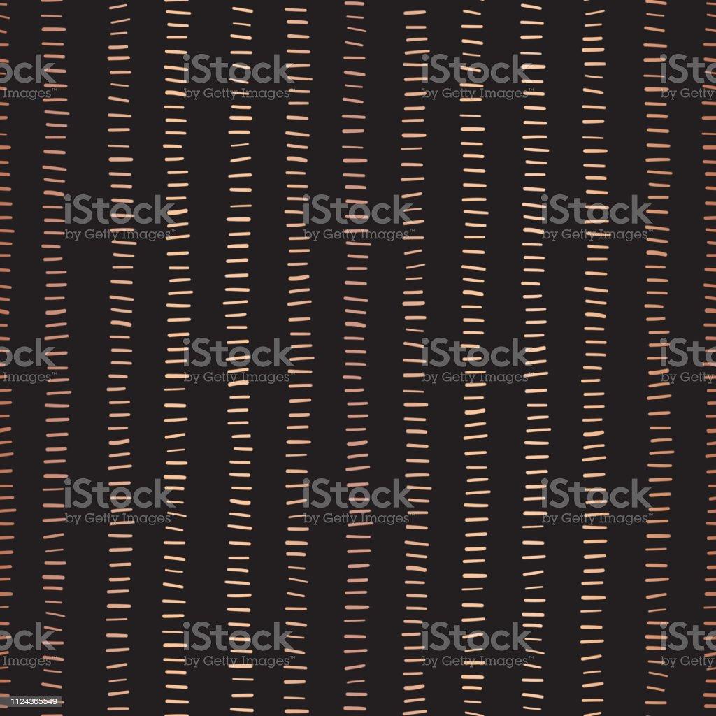Rose Gold foil stripes seamless vector pattern. vector art illustration