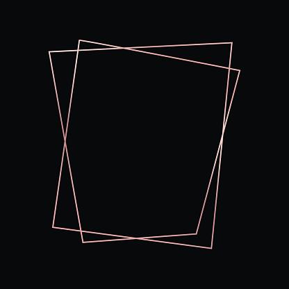 Rose gold geometric polygonal frame