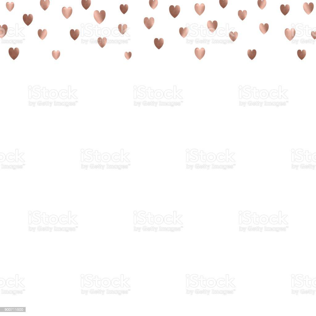 Rose Gold Glitter Beautiful Fashion Romantic Background Polka Hearts
