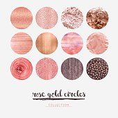 Set of editable vector circles on white background.