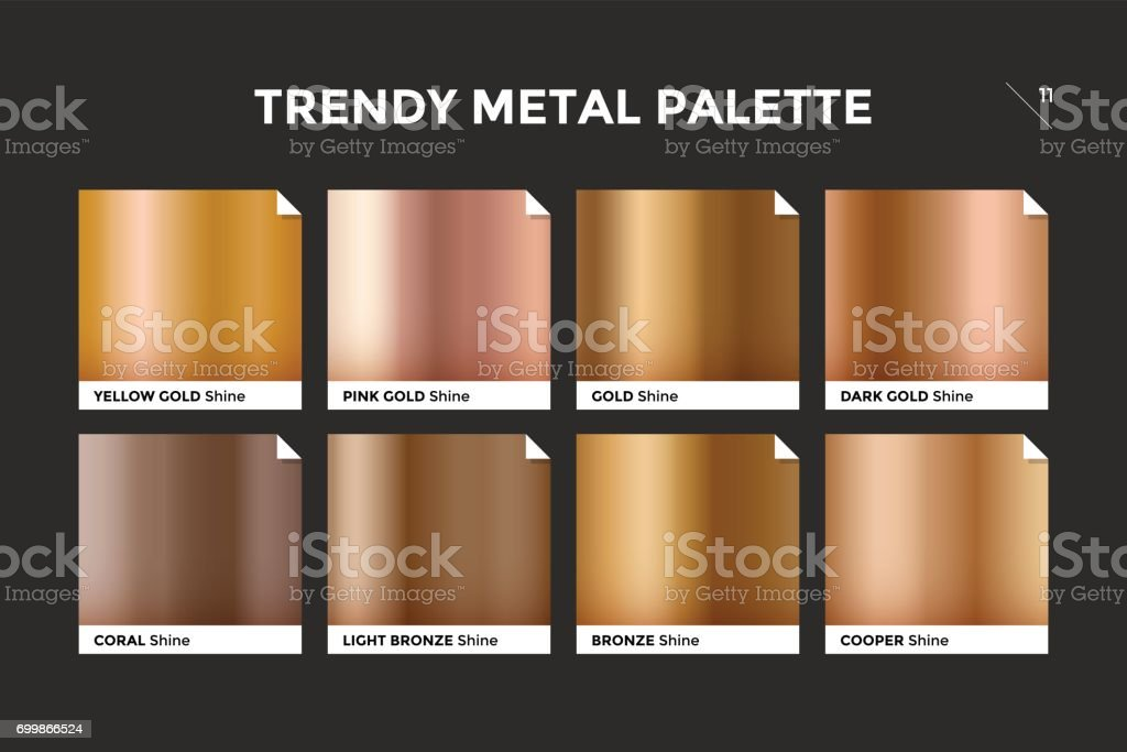 Rose gold gradient template, vector icon vector art illustration