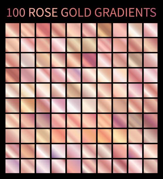 ilustrações, clipart, desenhos animados e ícones de gradientes de rose gold - amostra de cor