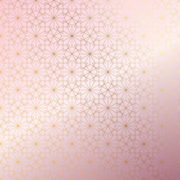 Rose Gold Islamic Pattern Abstract Background. Rose Gold Islamic Pattern Abstract Background. ramadan stock illustrations