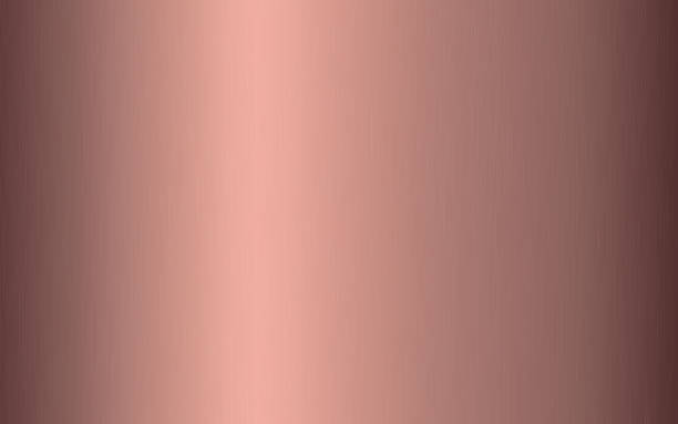 illustrations, cliparts, dessins animés et icônes de gradient métallique en or rose avec des rayures. effet de texture de surface de papier d'aluminium rose. illustration de vecteur - alliage