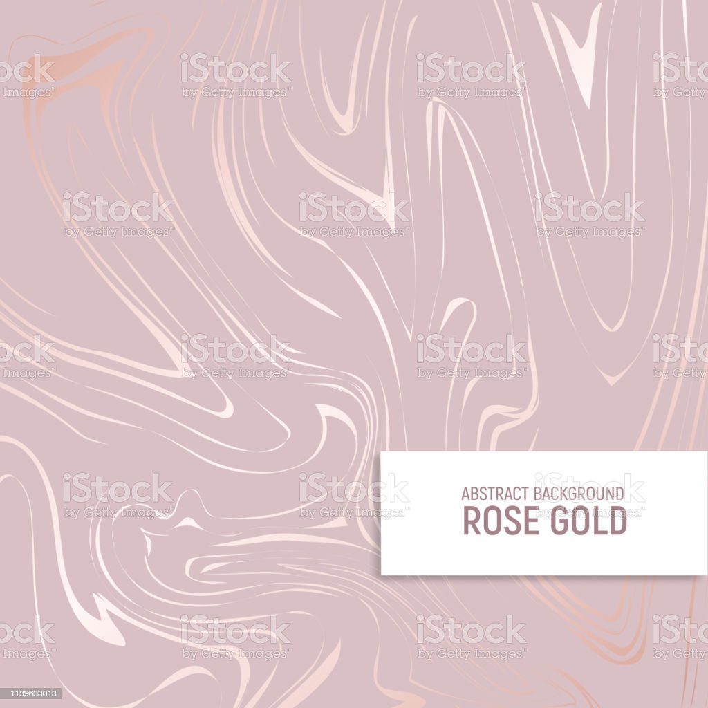 Rose gold. Texture of marble with imitation of rose gold. Elegant...