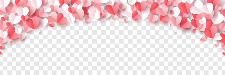 Rose hearts border