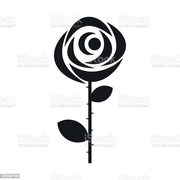 Rose icon in simple style vector id670967194?b=1&k=6&m=670967194&s=612x612&h=o5yhawmnn0iu3i ggzadopvepyemmeokjvszex1kzdo=