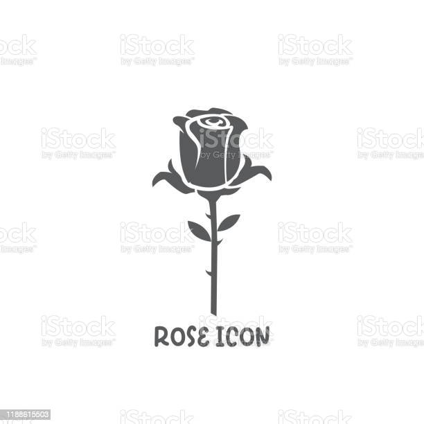 Rose icon simple flat style vector illustration vector id1188615503?b=1&k=6&m=1188615503&s=612x612&h=sbcbvnaazbnxxyh1l9xhendlwxivctinxwgdabgo4po=