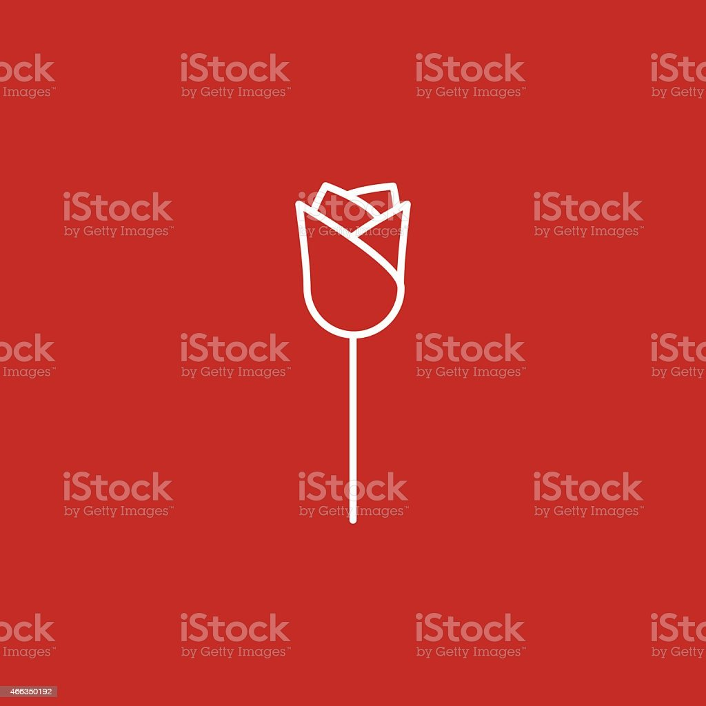 rose icon vector art illustration