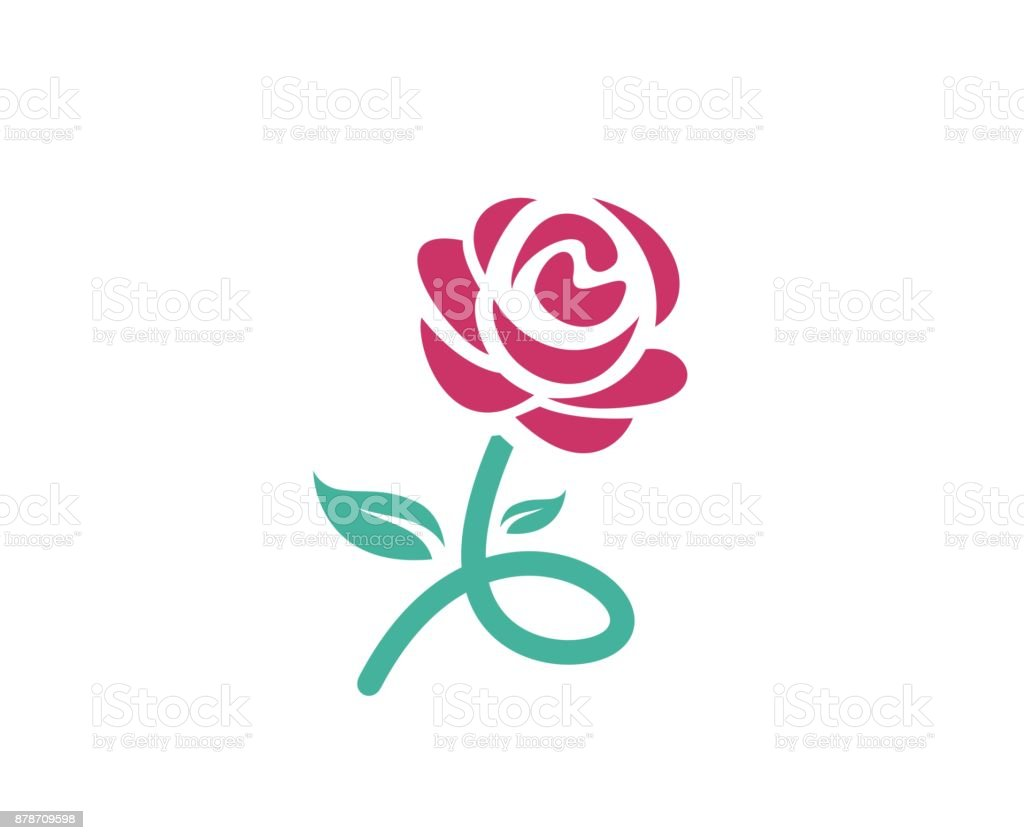 Abstract Flower Icons Stock Vector: Rose Icon Stock Vector Art & More Images Of Abstract