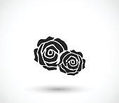 Rose icon vector illustration