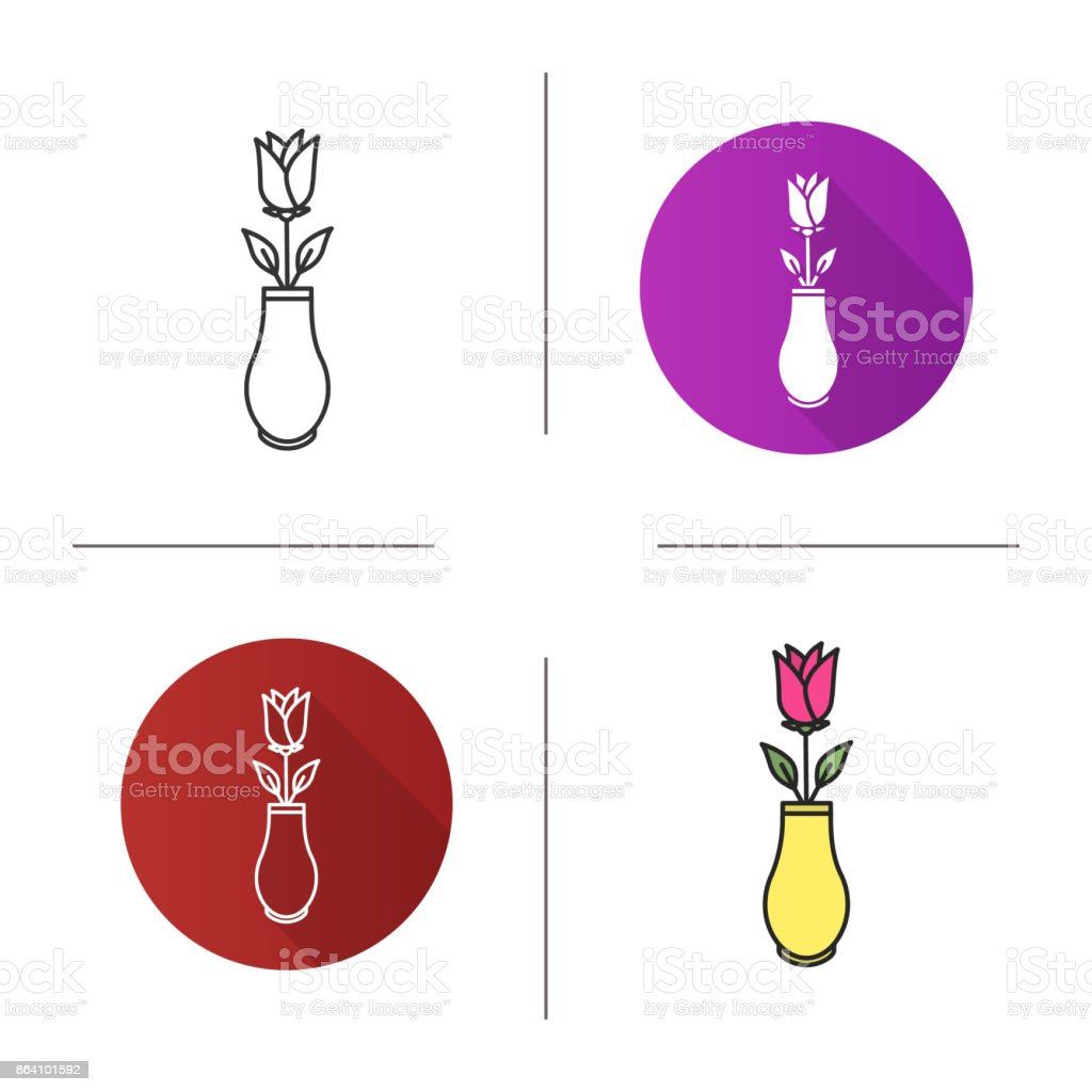 Rose in vase icon royalty-free rose in vase icon stock vector art & more images of blossom