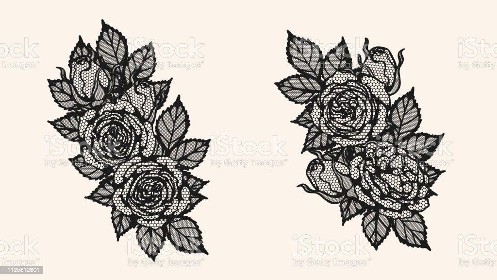 Rose Lace Ornament Vector By Hand Drawing Stock Illustration Download Image Now Istock