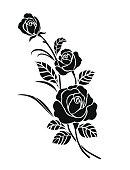 Rose motif for design.