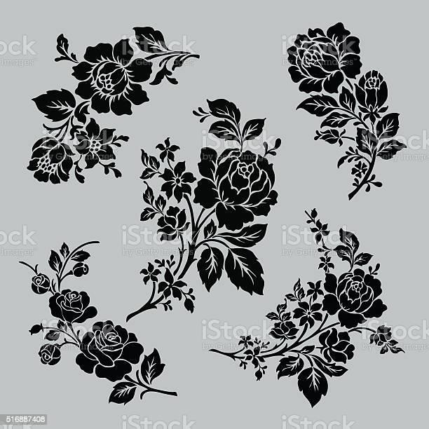 Rose motif set vector id516887408?b=1&k=6&m=516887408&s=612x612&h=m4tmmlidheyx46ti60f x6e8lxzicr9qkjcm8cgqiju=