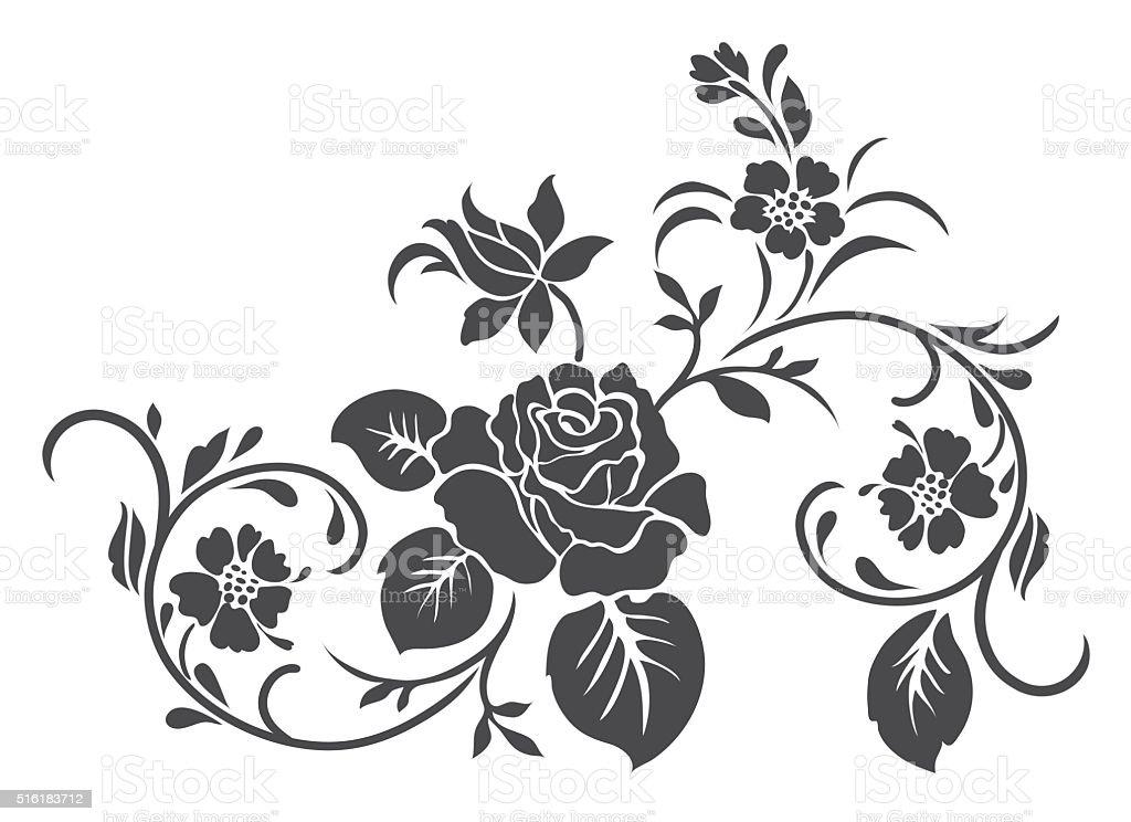 Rose motif vector for design stock vector art more images of art rose motif vector for design royalty free rose motif vector for design stock vector voltagebd Gallery