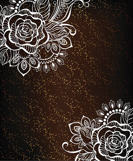 Royalty Free Drawing Of A Black Lace Clip Art Vector Images