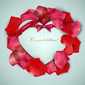 Rose petal Congratulations frame