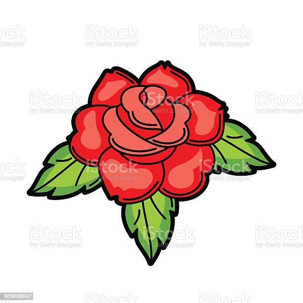 Rose retro tattoo symbol cartoon old school illustration vector id609688842?b=1&k=6&m=609688842&s=612x612&h=odk6yi sr1ud8 6lanxu nmyrdxcvor6pk p9iheqx0=