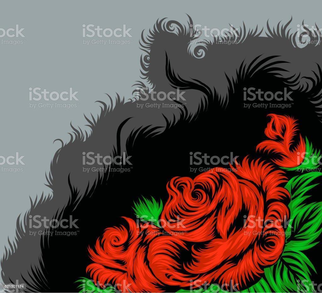 Rose scene drawing rose scene drawing – cliparts vectoriels et plus d'images de arbre en fleurs libre de droits
