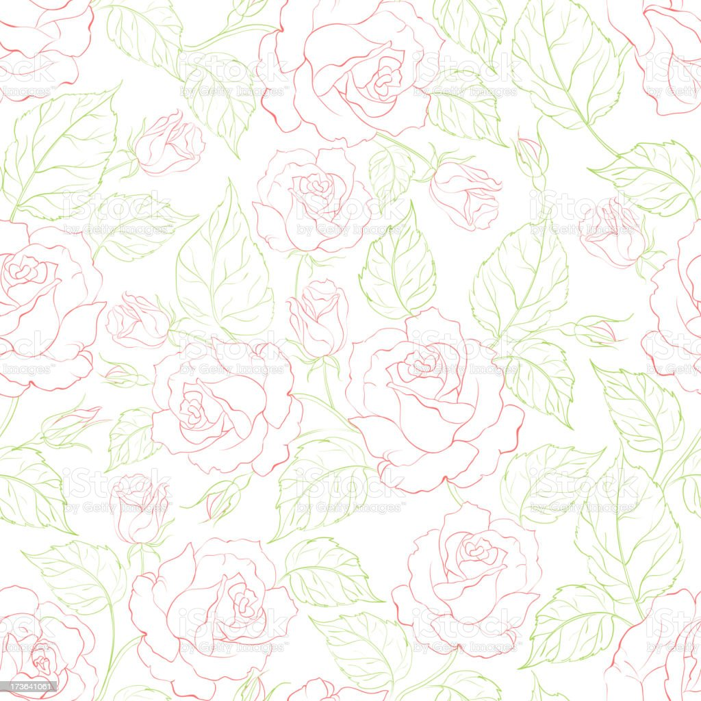 Rose seamless background royalty-free stock vector art