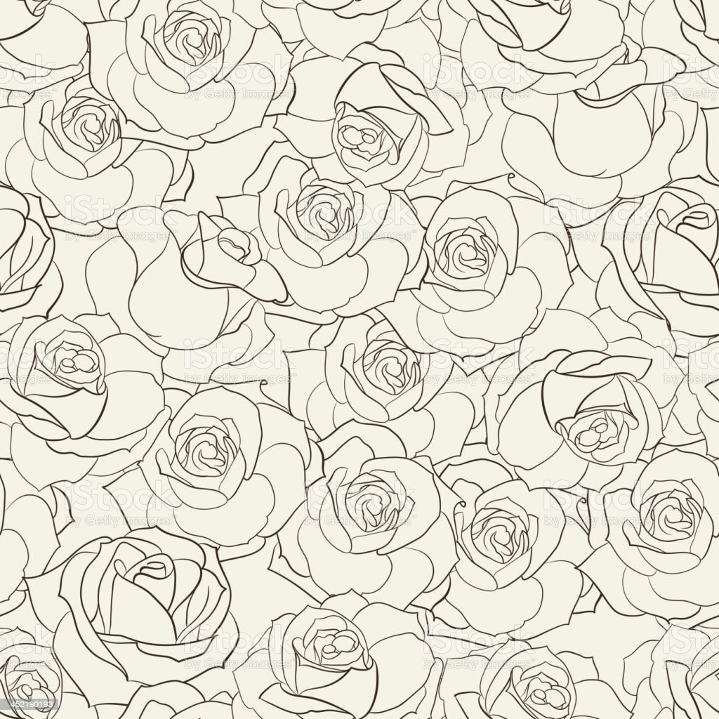 Rose seamless background. royalty-free stock vector art
