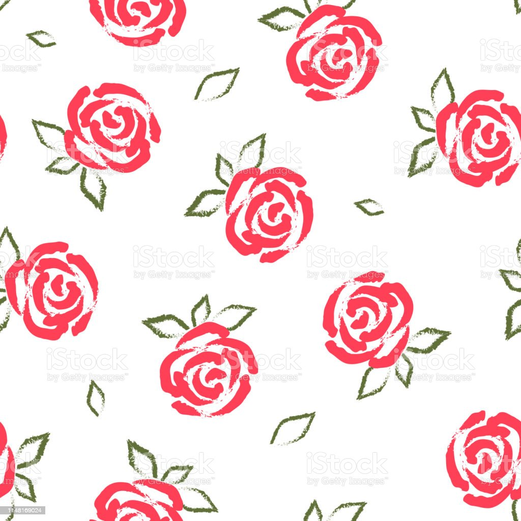 Rose Seamless Pattern Flowers Background Scrapbooking Paper Copybook Cover For Print Wrapping Paper Fabric Covers Textile Stock Illustration Download Image Now Istock