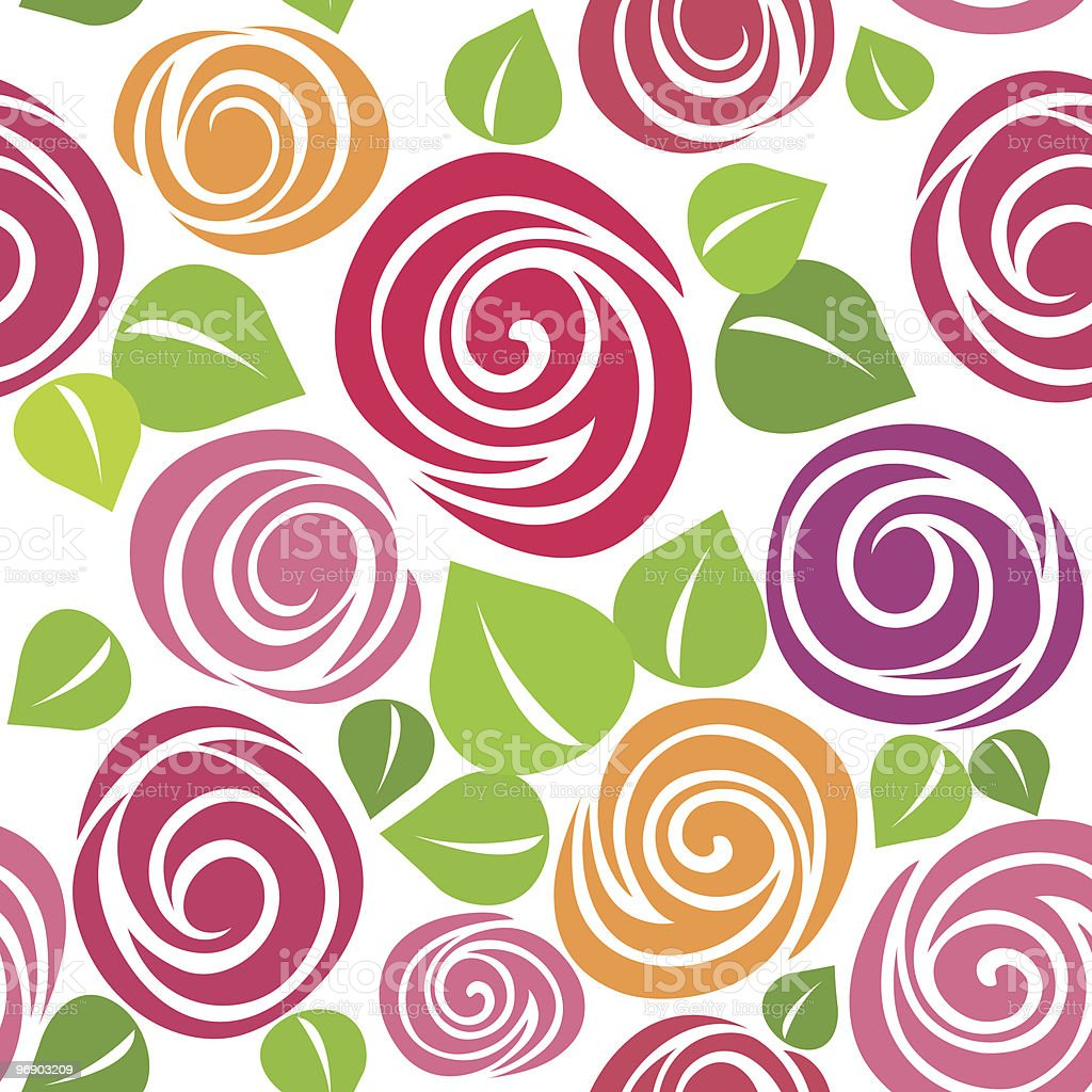 rose seamless pattern royalty-free rose seamless pattern stock vector art & more images of beauty in nature