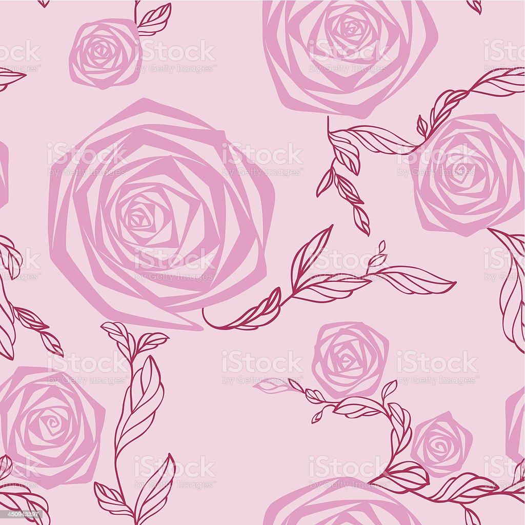 Rose. Seamless texture. royalty-free stock vector art