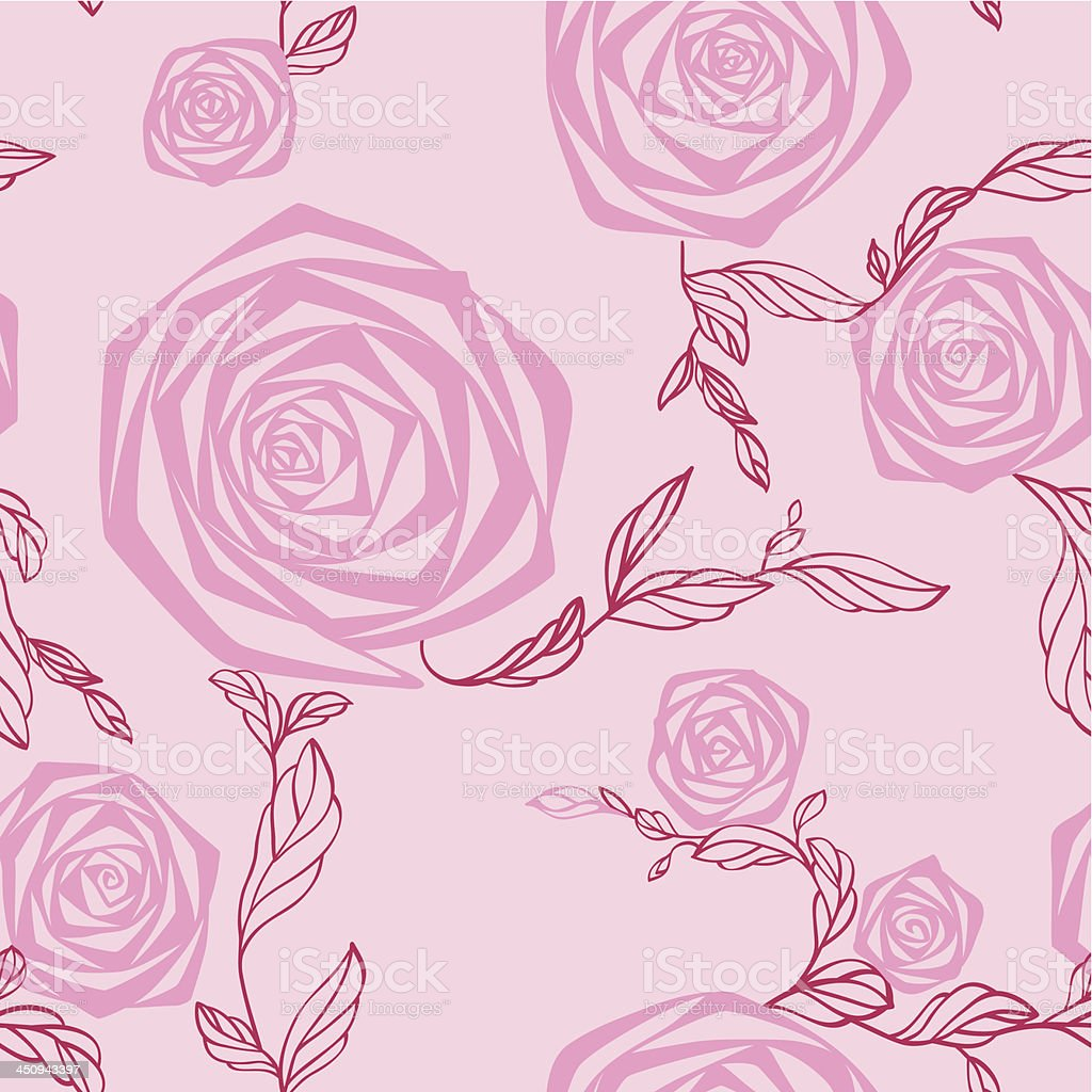Rose. Seamless texture. vector art illustration
