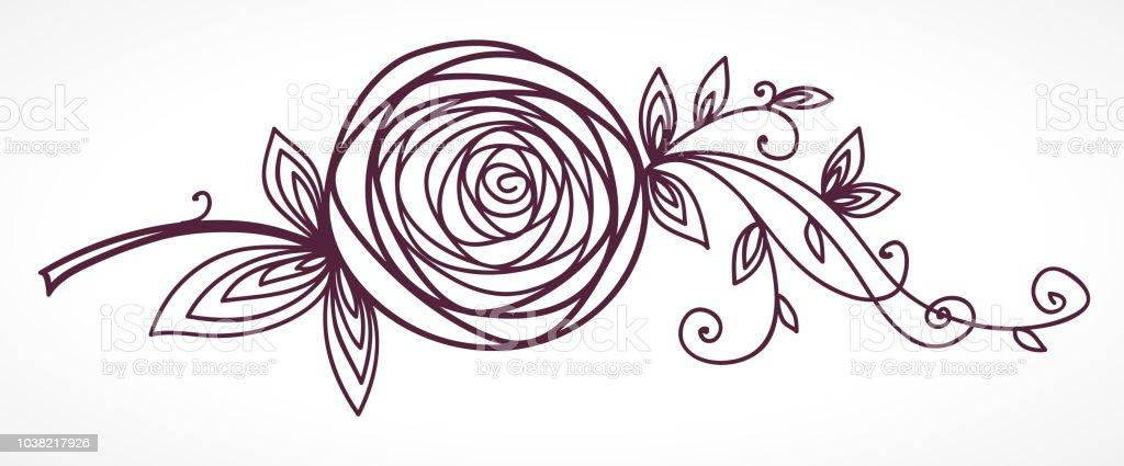 Rose Fleur Stylisee Pour La Conception Du Mariage Et Cartes