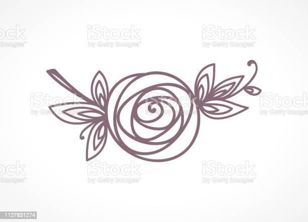 Rose stylized flower symbol outline hand drawing icon decorative vector id1127831274?b=1&k=6&m=1127831274&s=612x612&h=ykcx6xygczlsezaxa3dyau7pfdmci4pwvrlt06ln 0g=
